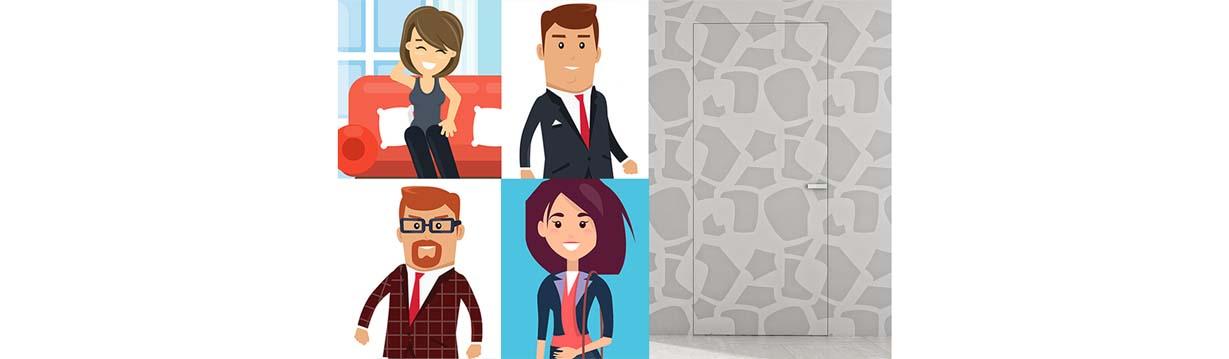 4 tipi di persone che hanno scelto una porta filo muro