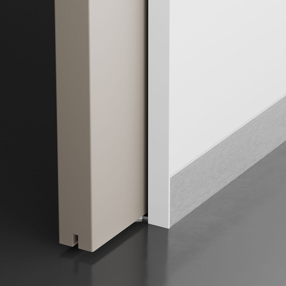 Flush baseboard skirting