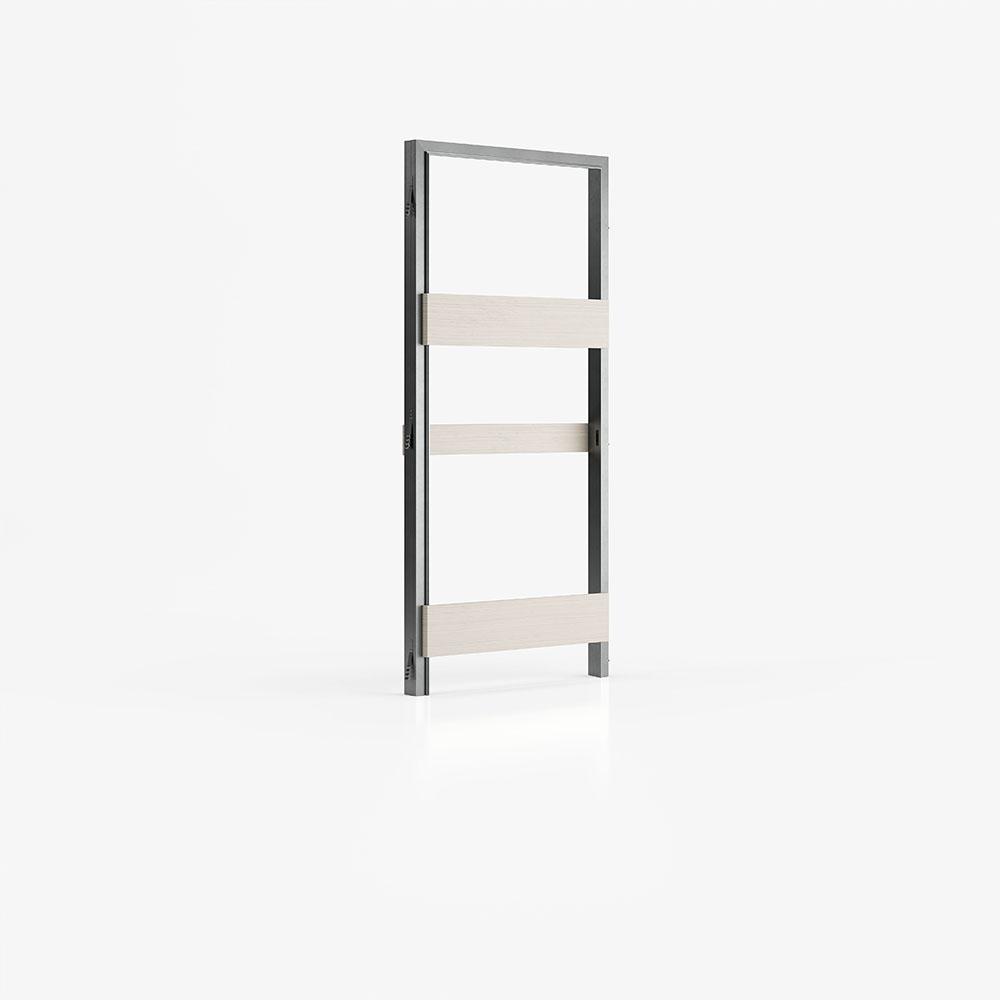 Controtelaio per porta scorrevole filo muro per pareti in intonaco e cartongesso