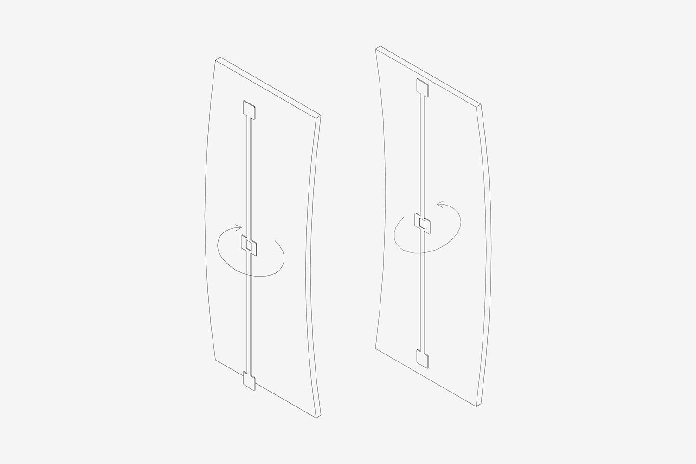 Ermetika - Asta raddrizzante per pannelli e porte