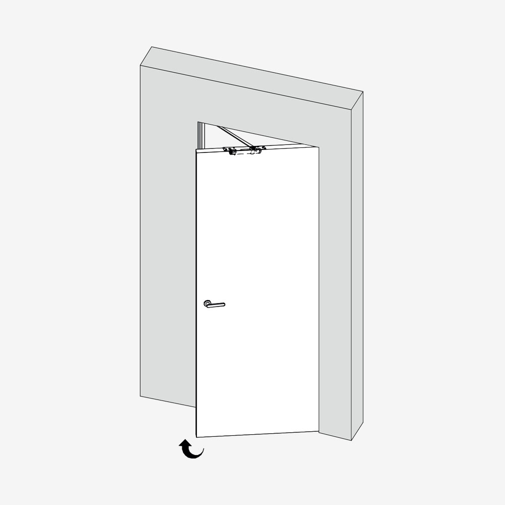 Ferme-porte invisible 1