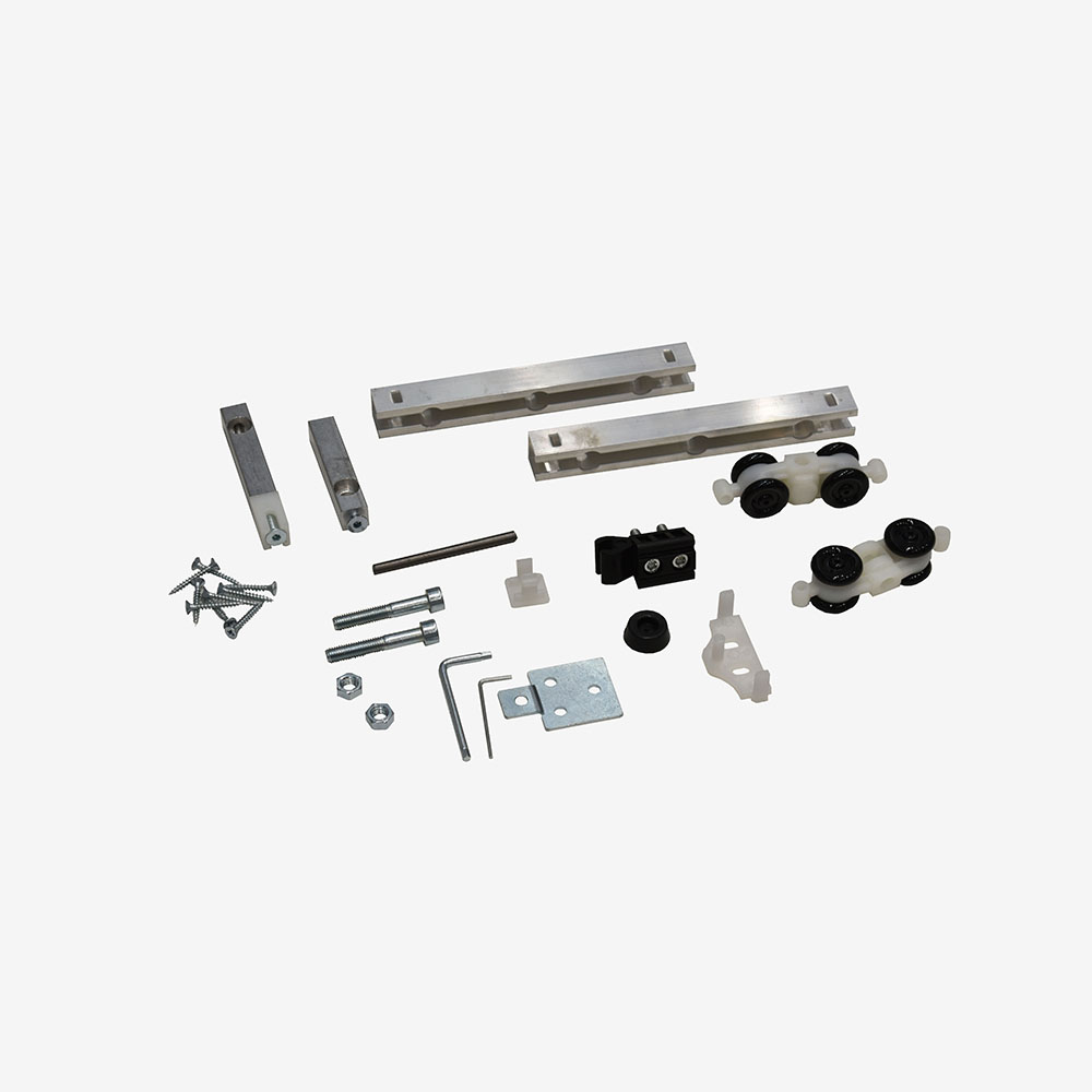 Hardware kit for flush sliding door systems 1