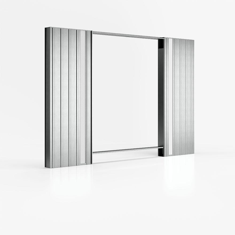 Luminox - Controtelaio per pareti in cartongesso con canalina per cassette elettriche