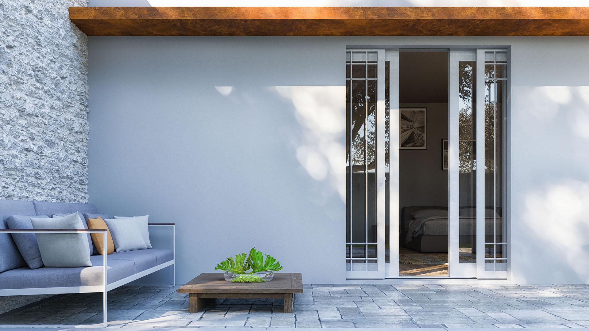 Maxima - Controtelaio per muratura esterna per infisso interno e grata o persiana esterna