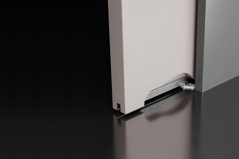 Profilo sottoporta in alluminio