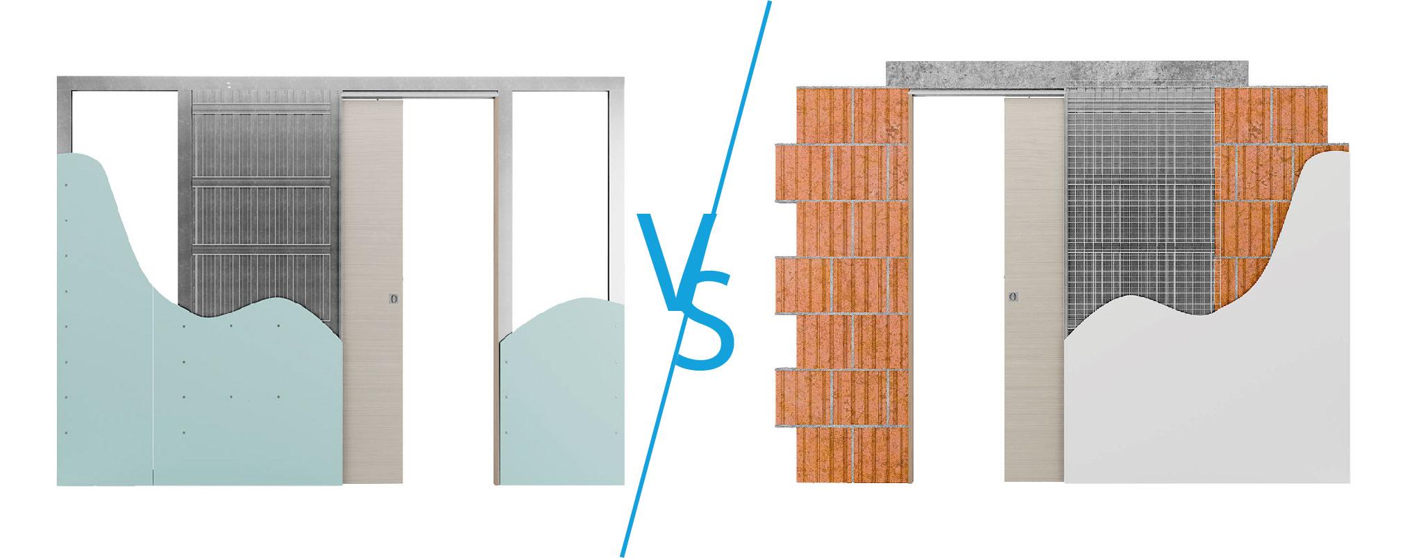 Controtelai per pareti in intonaco o in cartongesso?