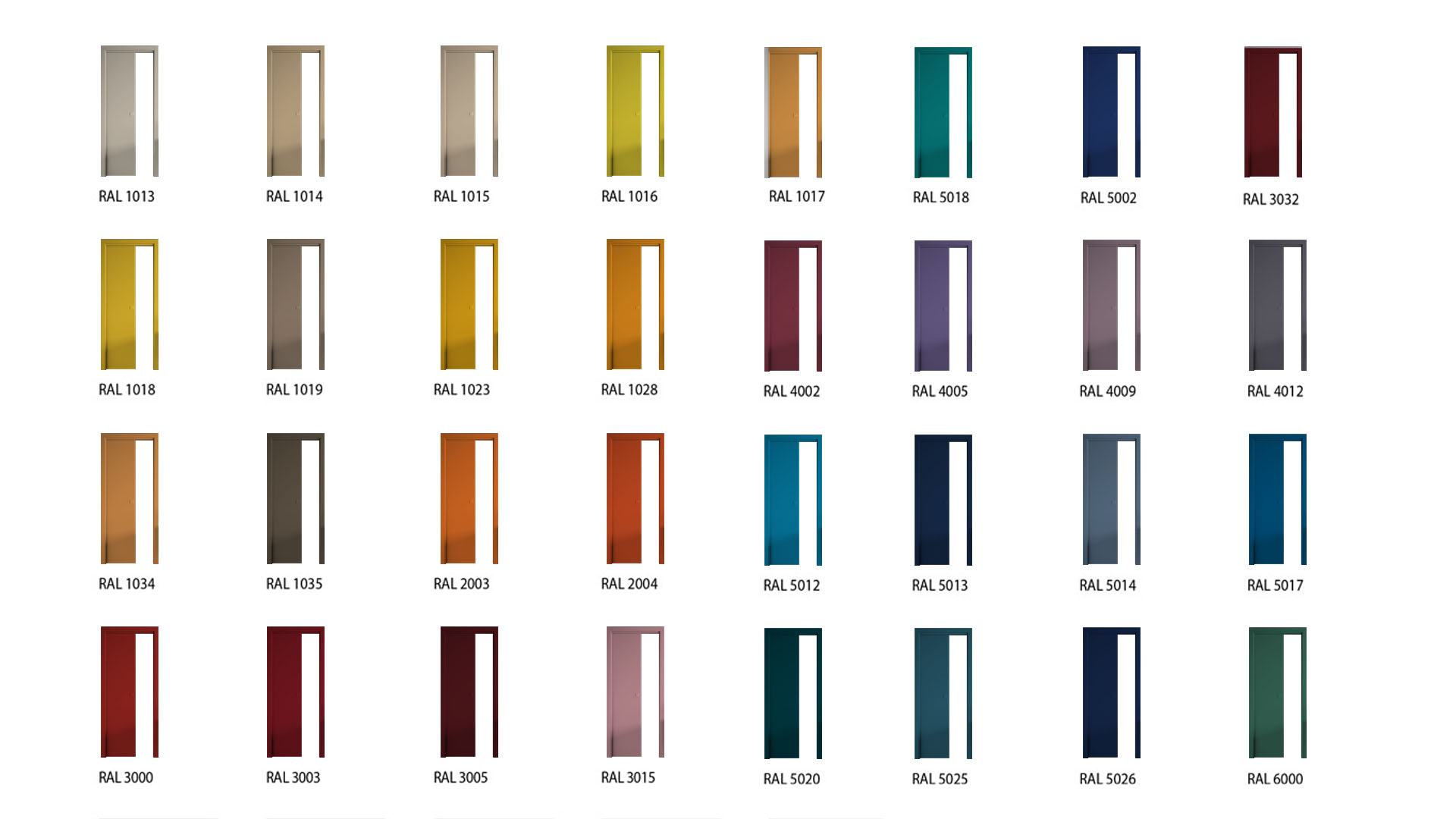 Come scegliere il colore di una porta da interno